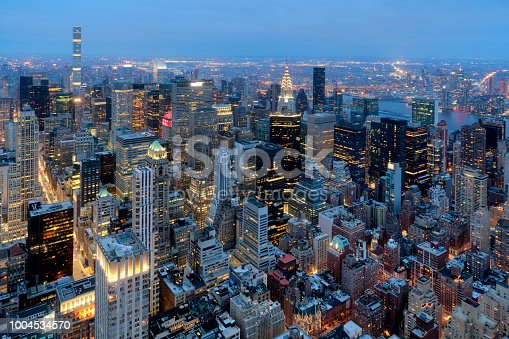 istock New York, Manhattan, Skyline at Dusk 1004534570