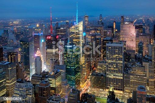 istock New York, Manhattan, Skyline at Dusk 1004540824