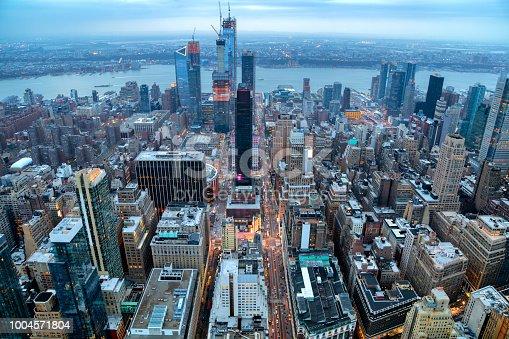 istock New York, Manhattan, Skyline at Dusk 1004571804