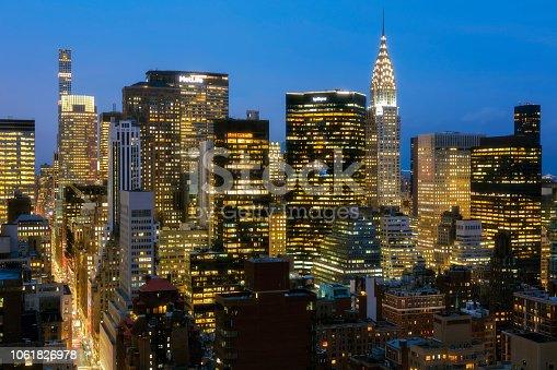 istock New York, Manhattan, Skyline at Dusk 1061826978
