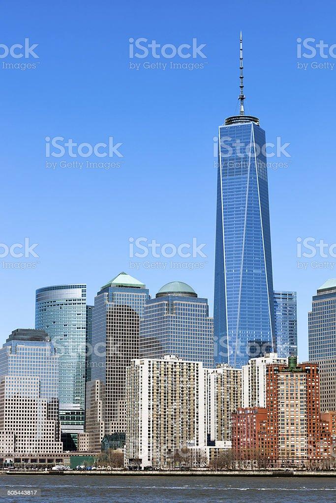New York, Manhattan, Skyscrapers royalty-free stock photo