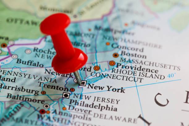 Karte von New York – Foto