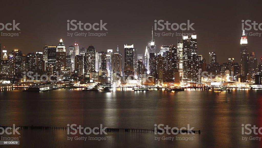 New York Midtown Manhattan skyline royalty-free stock photo