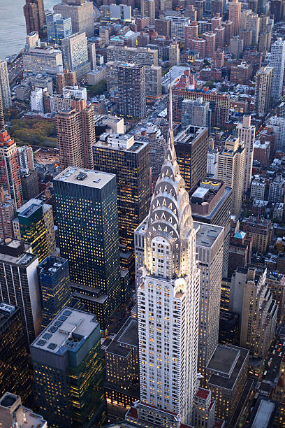 new york - mid-town - chrysler building stock photos and pictures