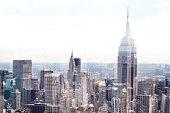 New York Midtown skyline - Aerial View