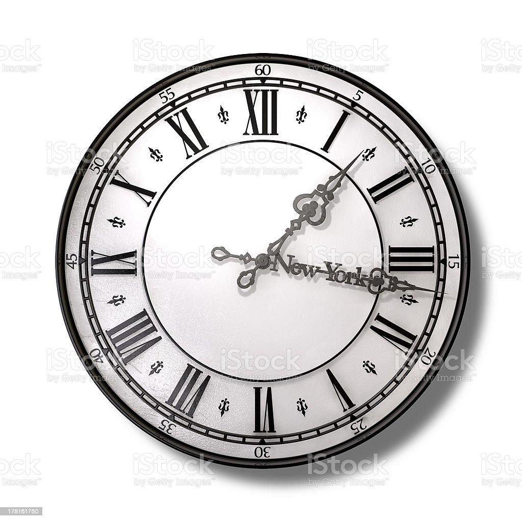 New York Minute Clock Hands stock photo