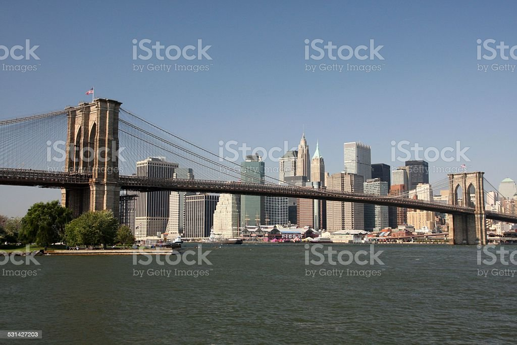 USA - New York - New York, Brooklyn Bridge stock photo