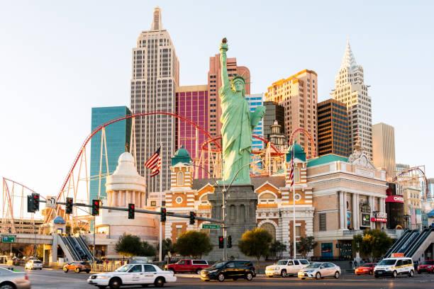 New York New York Casino & Hotel in Las Vegas stock photo