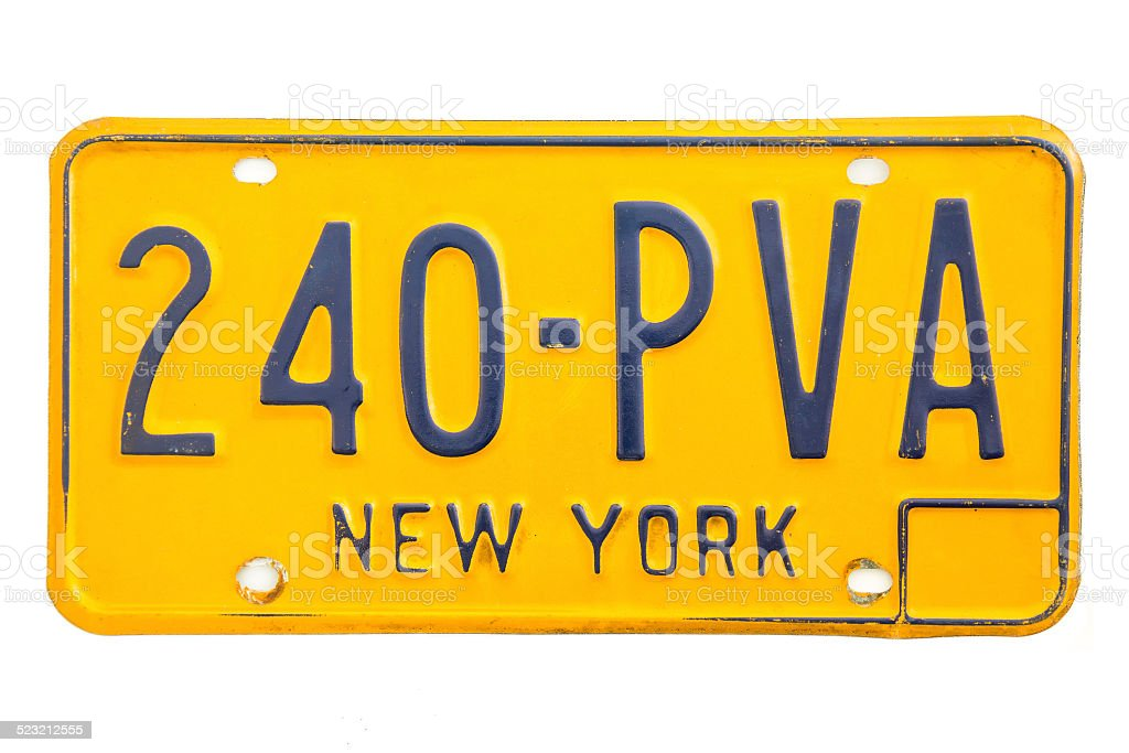 New York Number Plate stock photo