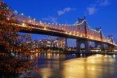 Queensborough bridge at night