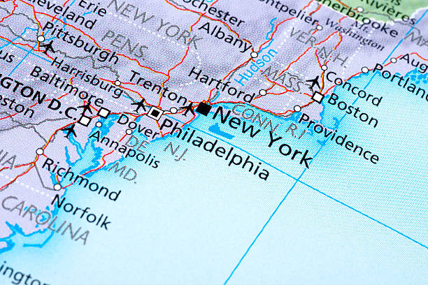 New York Map of New York north carolina us state stock pictures, royalty-free photos & images