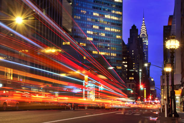 New York New York, long exposure long exposure stock pictures, royalty-free photos & images