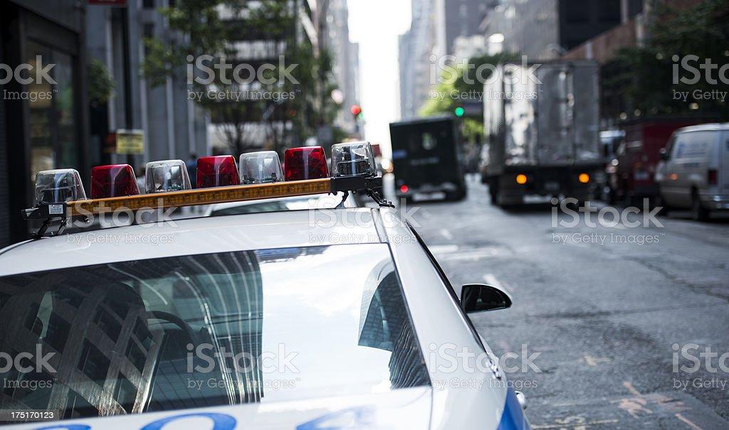 New york Police car. royalty-free stock photo