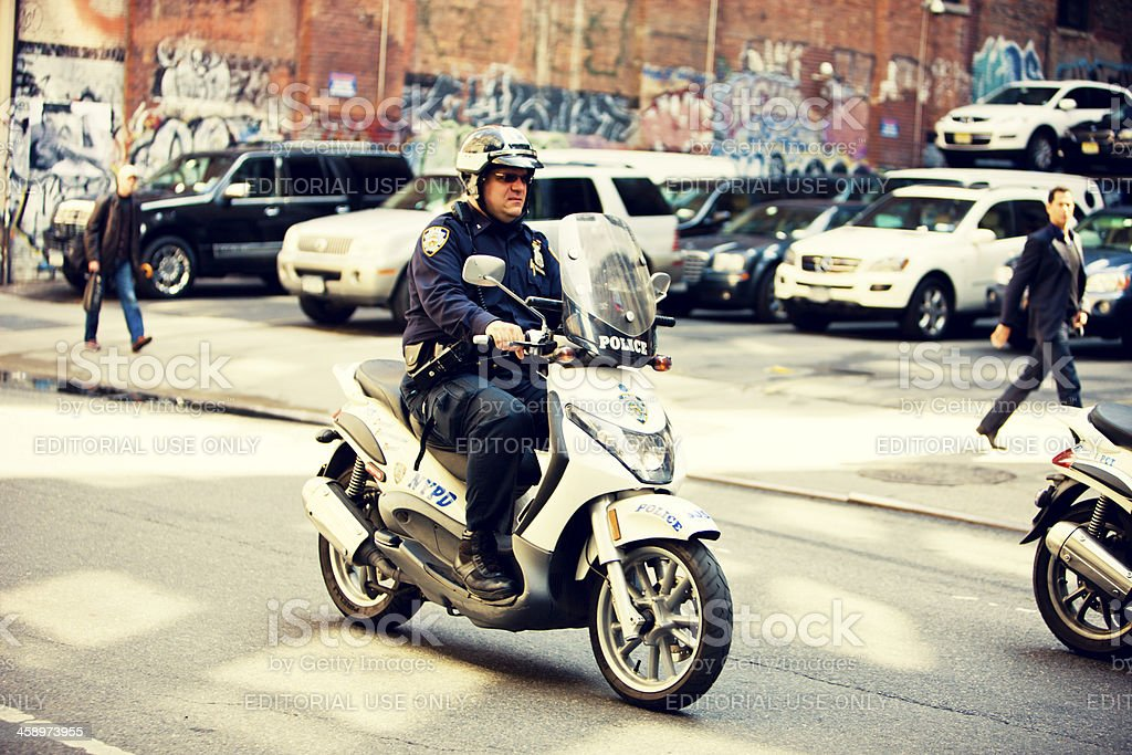 New York Police on motorcycles, USA royalty-free stock photo