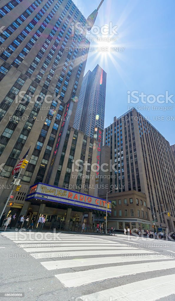 New York Radio City Music Hall stock photo