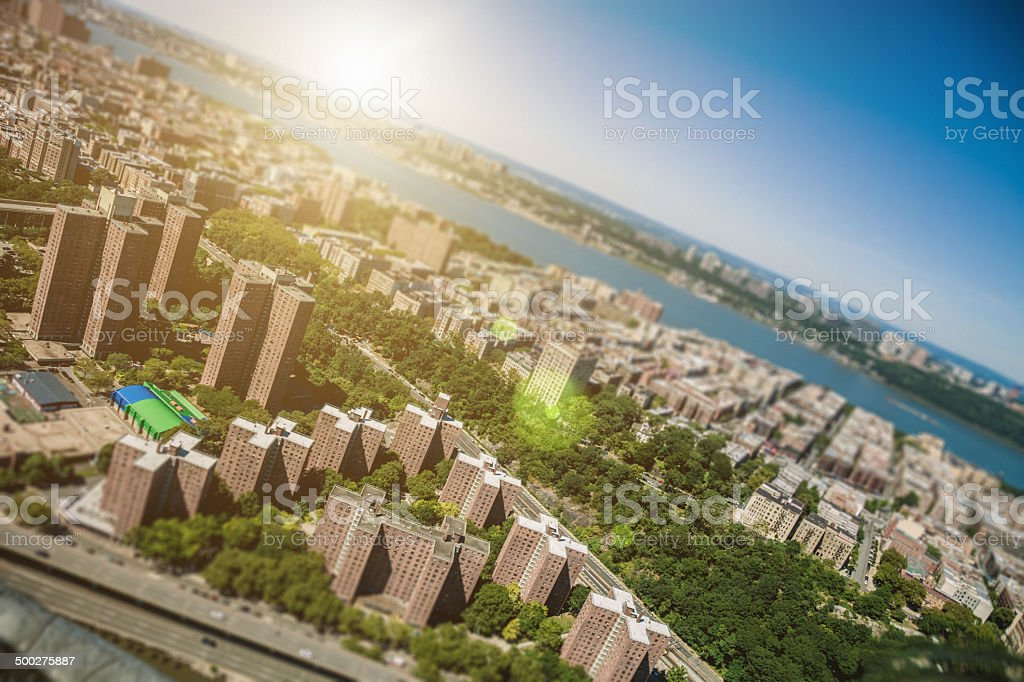 New York residential district stock photo