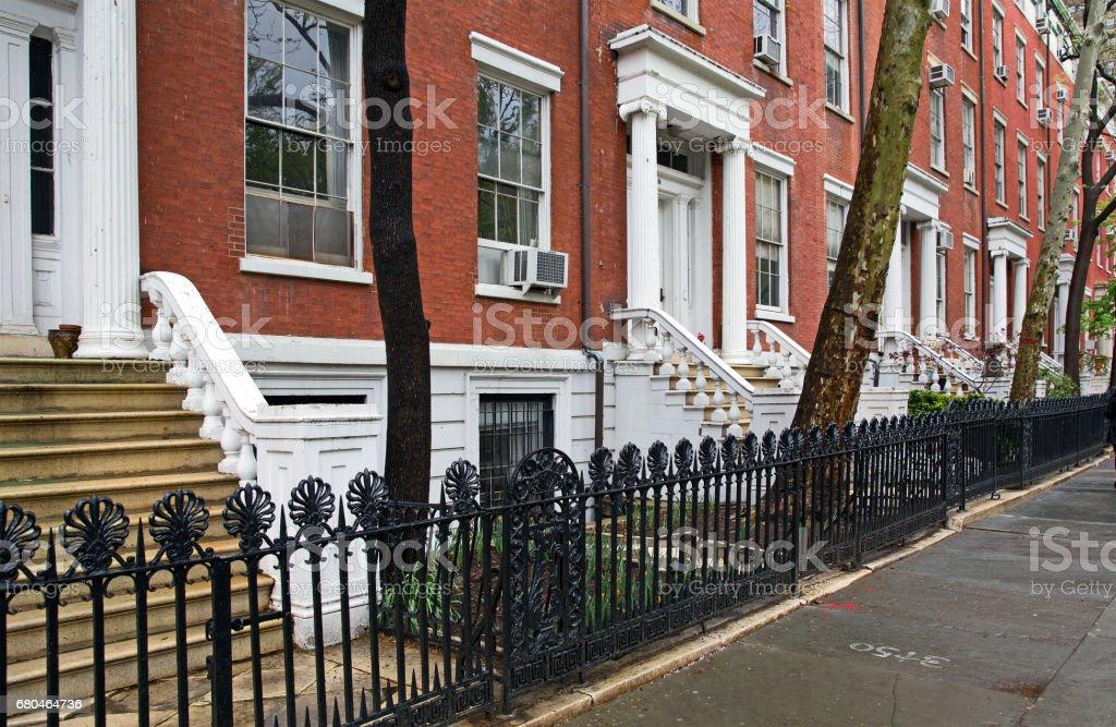 New York rich houses stock photo