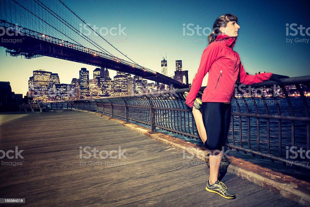 New York Runner royalty-free stock photo