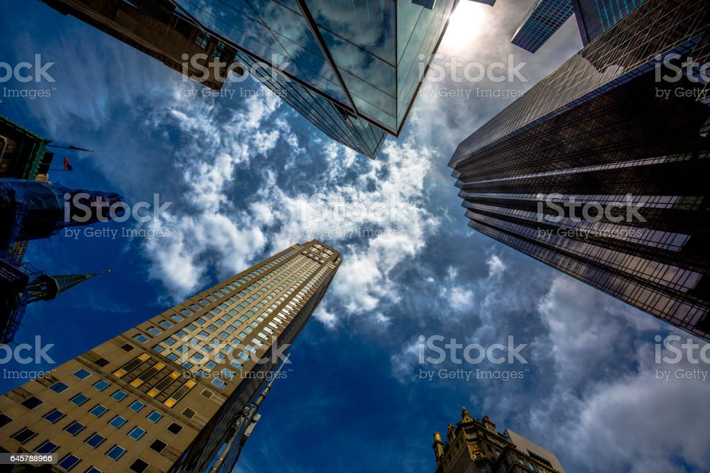 New York Sky stock photo