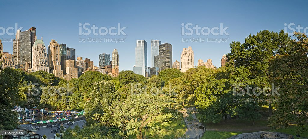 New York skyline Central Park royalty-free stock photo