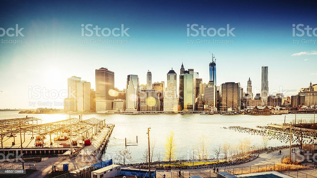 New York Skyline from Brooklyn royalty-free stock photo
