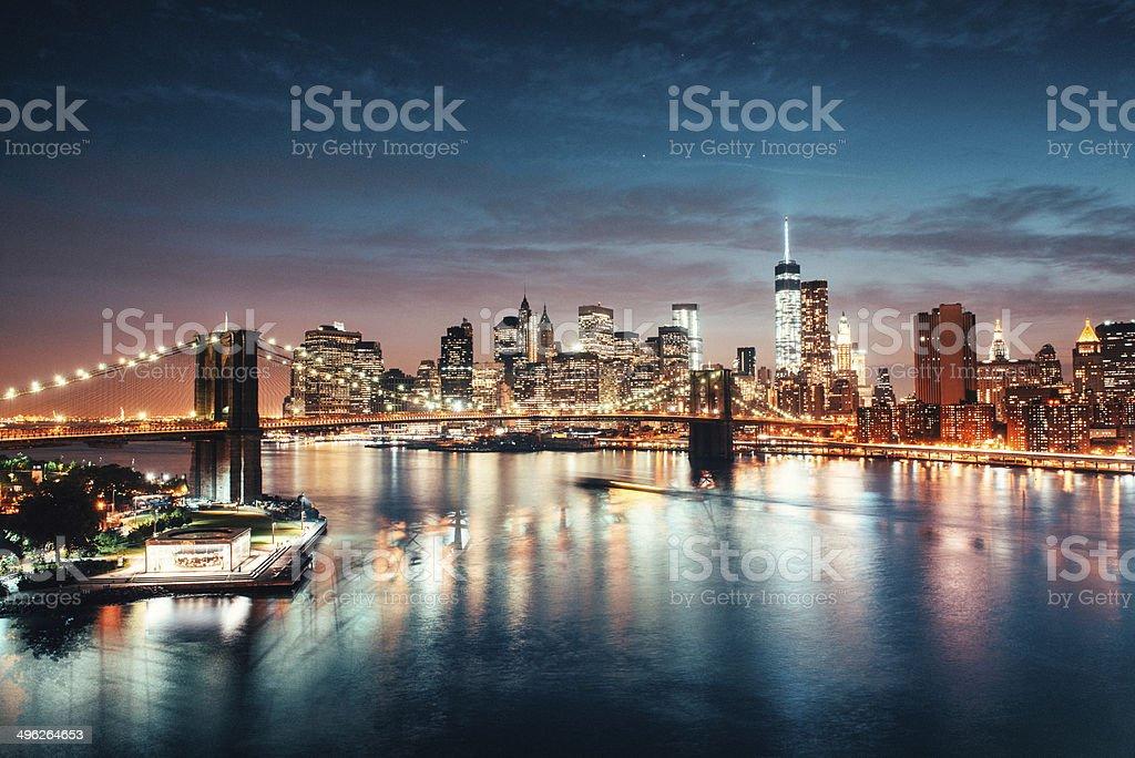 New York Skyline from Brooklyn stock photo