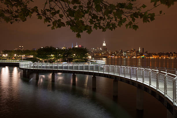 New York Skyline From N. Jersey stock photo