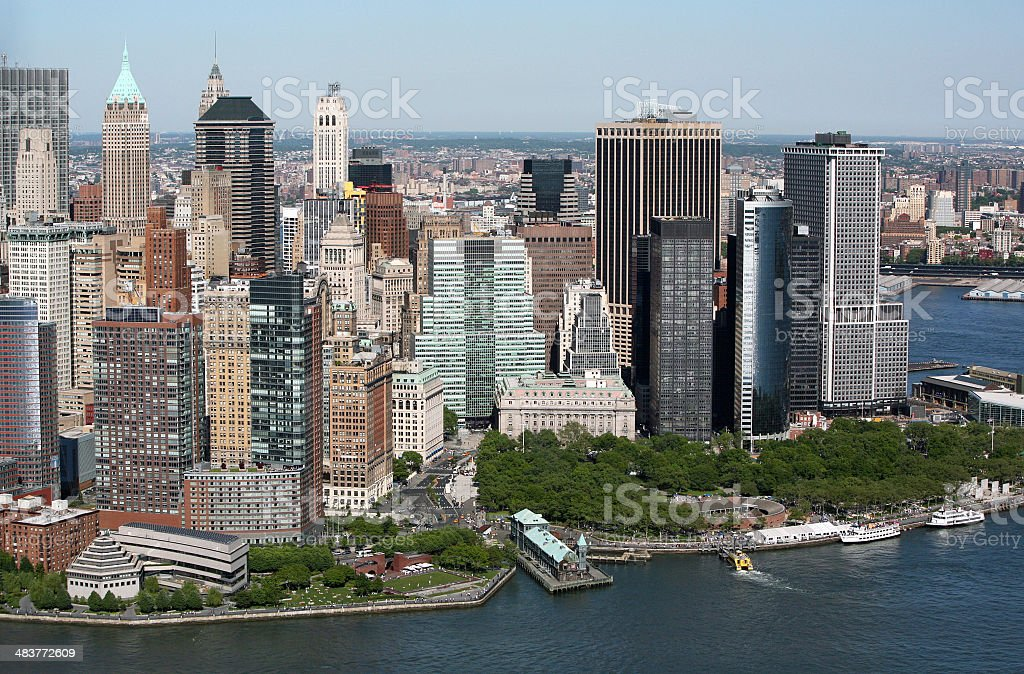 New York Skyline From The Air royalty-free stock photo