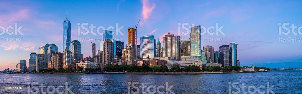 New York Skyline from the Hudson stock photo