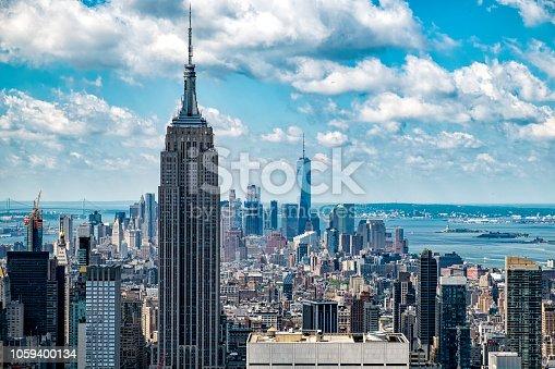 New york skyline looking towards lower manhattan