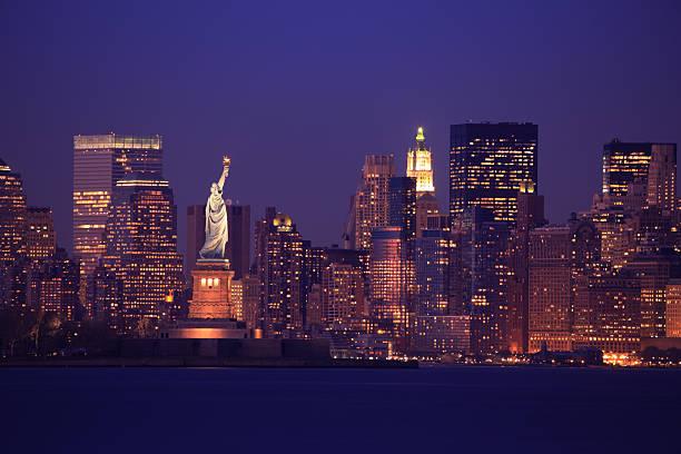 vue sur la ville de new york - new york photos et images de collection