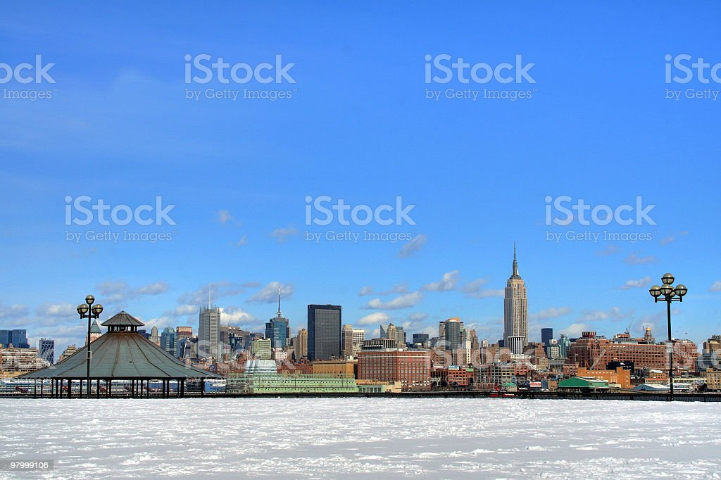 new york skyline royalty free stockfoto