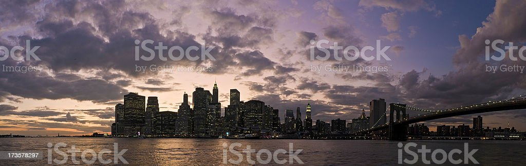 New York skyline sunset royalty-free stock photo