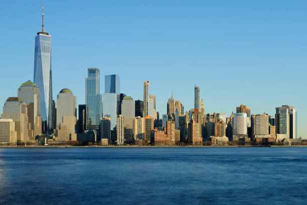 New York Skyline - World Trade Center stock photo
