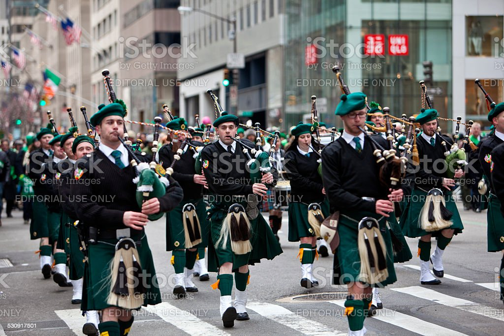 Nueva York St. Patrick's Day Parade - foto de stock