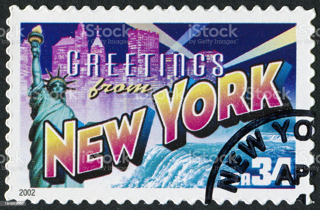 New York Stamp royalty-free stock photo