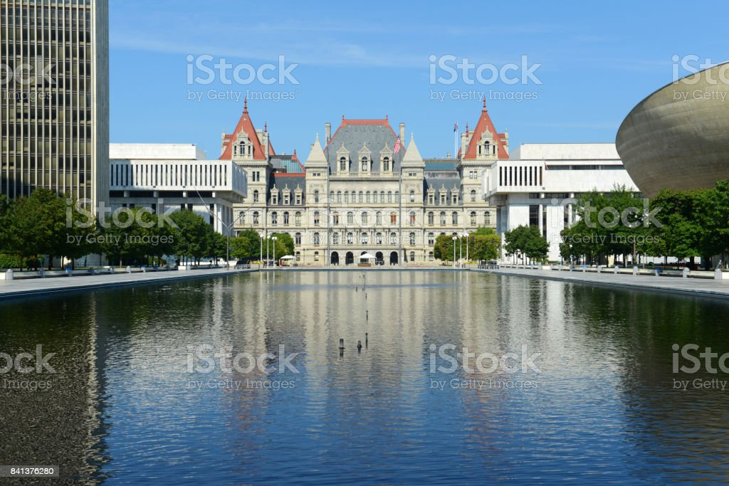 New York State Capitol, Albany, NY, USA stock photo