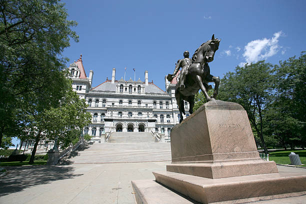 New York State Capitol Albany stock photo