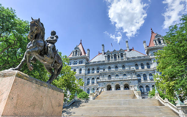 New York State Capitol Building, Albany The New York State Capitol Building in Albany, home of the New York State Assembly. albany county new york state stock pictures, royalty-free photos & images