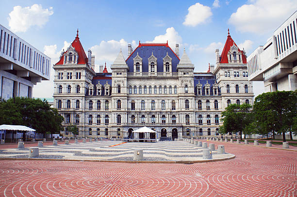 New York State Capitol in Albany New York State Capitol in Albany, New York state capital, USA. albany county new york state stock pictures, royalty-free photos & images