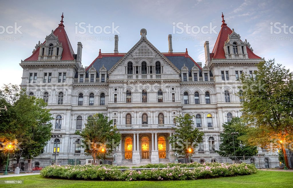 New York State Capitol royalty-free stock photo