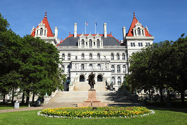 New York State Capitol New York State Capitol is the state capitol building of the U.S. state of New York. Housing the New York Legislature, it is located in the state capital of Albany on State Street in Capitol Park. Albany is known for its culture, history, architecture, and institutions of higher education albany county new york state stock pictures, royalty-free photos & images