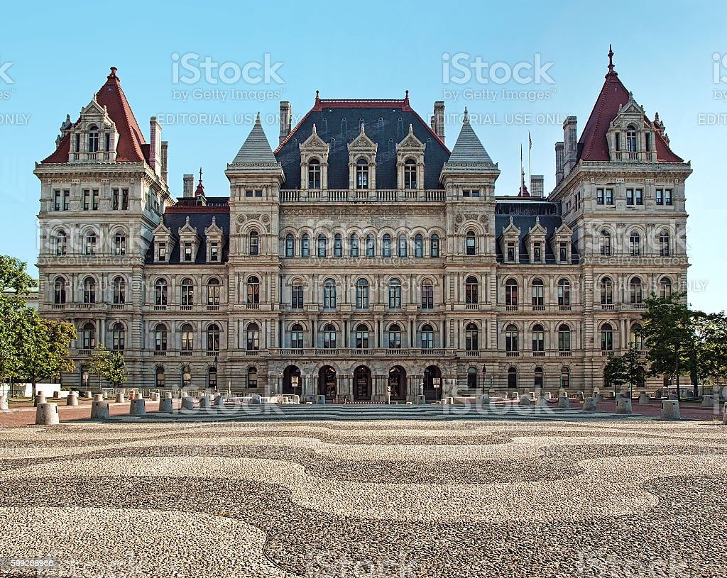 New York State Capitol stock photo