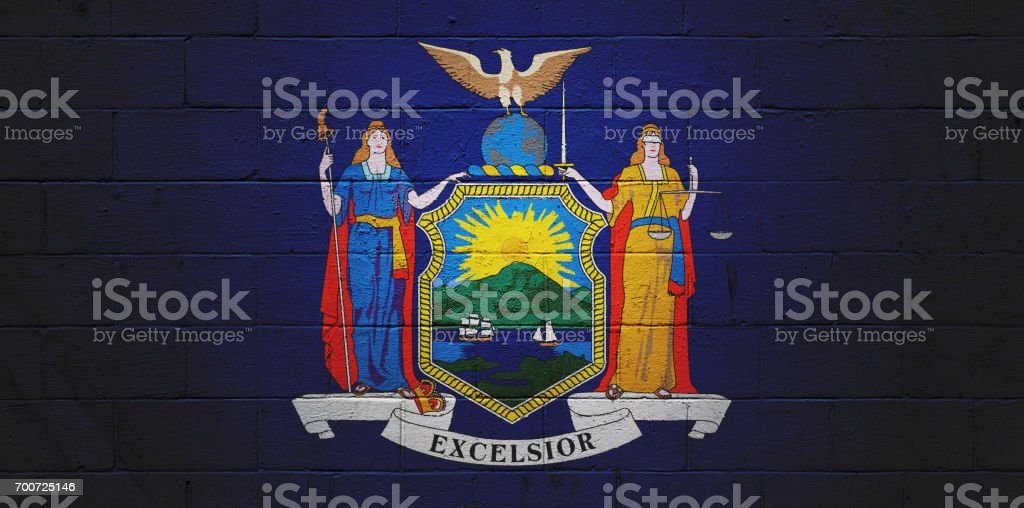 New York state flag stock photo