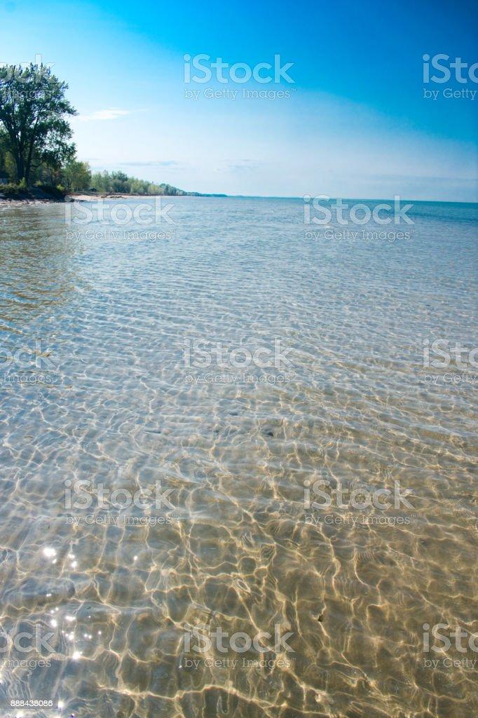 New York State Park on Lake Ontario stock photo