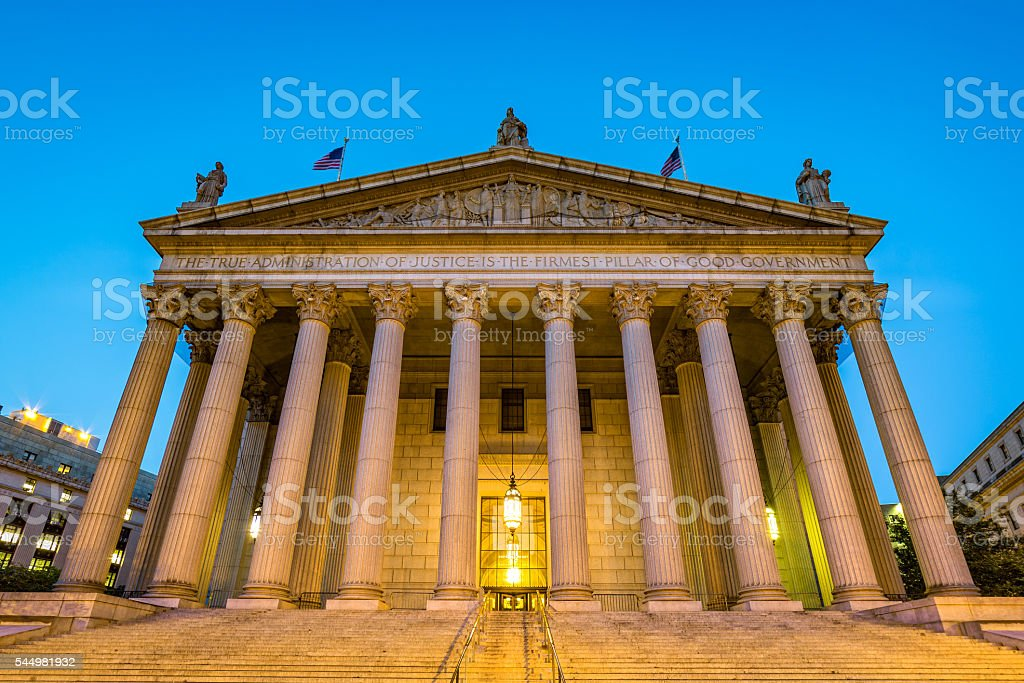 New York State Supreme Court stock photo