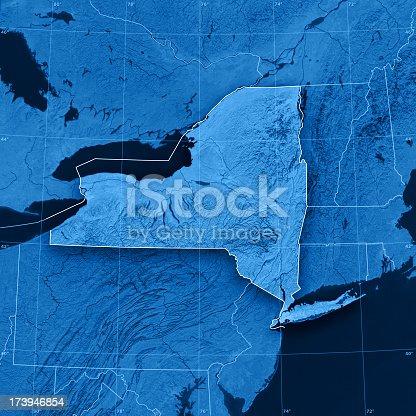 186815169istockphoto New York State Topographic Map 173946854