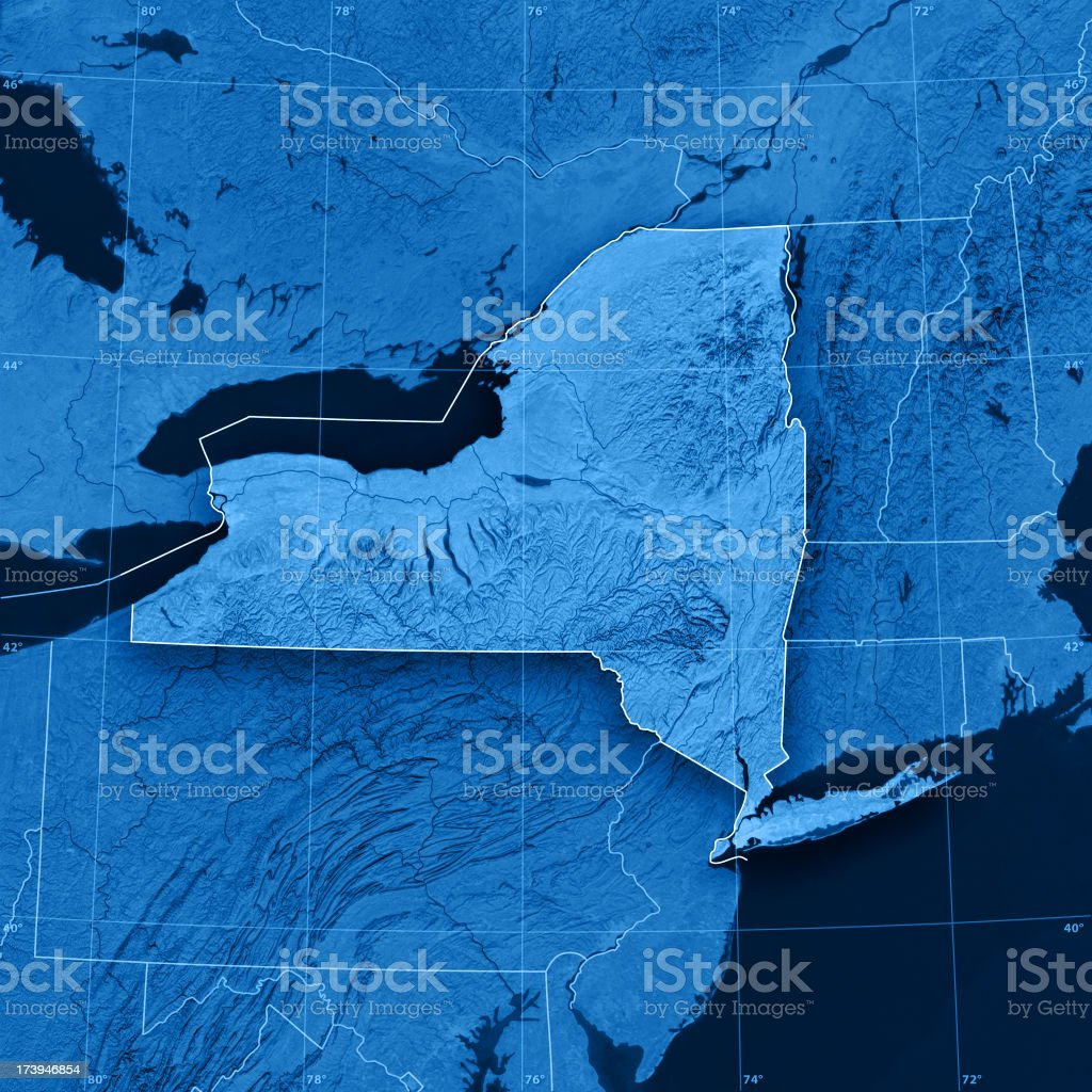 New York State Topographic Map stock photo