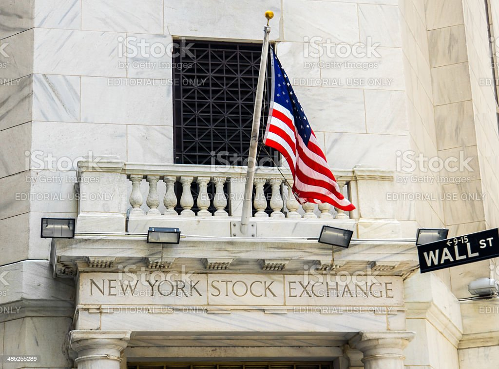 New York Stock Exchange and Wall Street stock photo