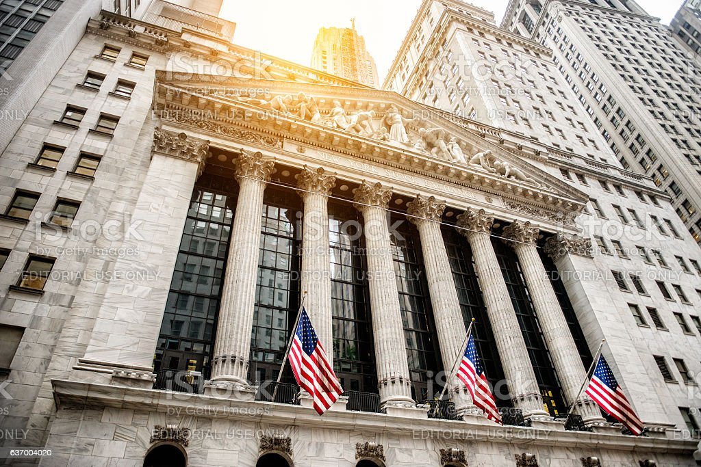 New York Stock Exchange building stock photo